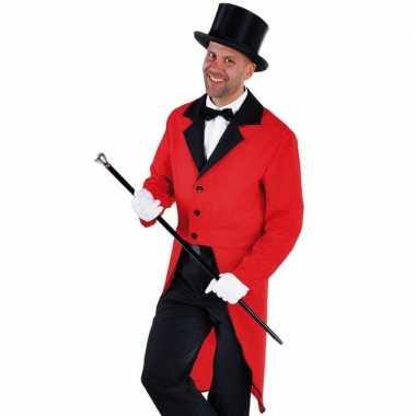 Goedkope rood circus directeur jasje inclusief hoed maat l