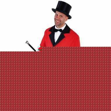 Goedkope rood circus directeur jasje inclusief hoed maat xl