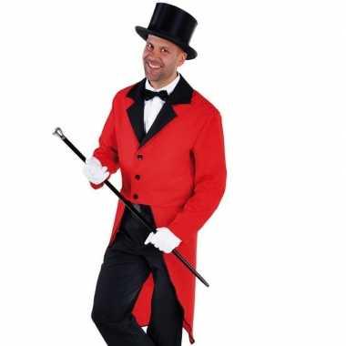 Goedkope rood circus directeur jasje inclusief hoed