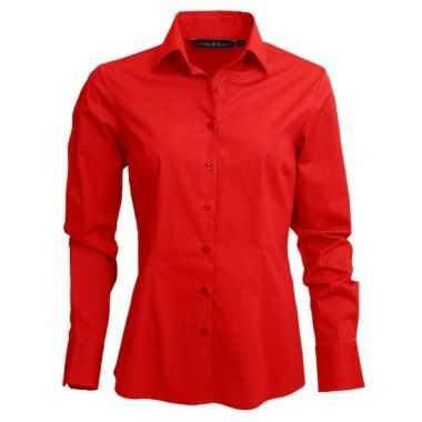 Goedkope rood dames overhemd