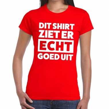 Goedkope rood feest t shirt dit shirt ziet er echt goed uit rood voor