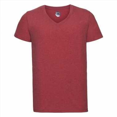 Goedkope rood heren t shirts met v hals