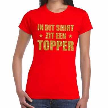 Goedkope rood in dit shirt zit een topper fun t shirt voor dames