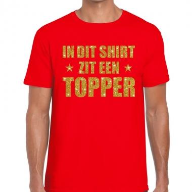Goedkope rood in dit shirt zit een topper fun t shirt voor heren