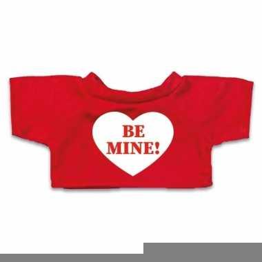 Goedkope rood knuffel shirt hartje be mine maat m voor clothies knuff