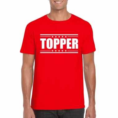 Goedkope rood t shirt heren met tekst topper