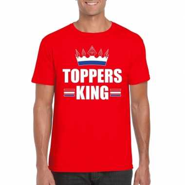 Goedkope rood t shirt heren met tekst toppers king