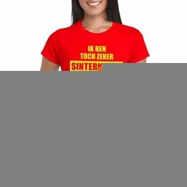 Goedkope rood t shirt ik ben toch zeker sinterklaas niet voor dames