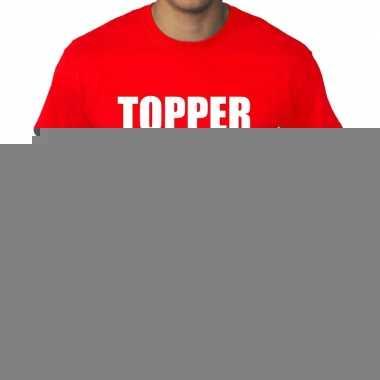 Goedkope rood t shirt in grote maat heren met tekst topper xxl