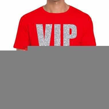Goedkope rood vip zilver fun t shirt voor heren