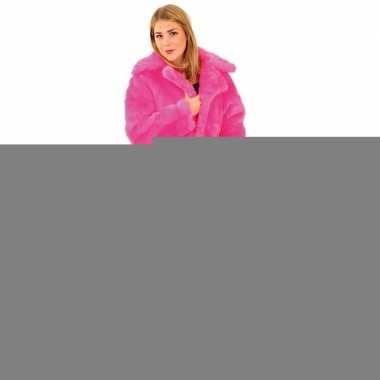 Goedkope roze bontjas voor dames