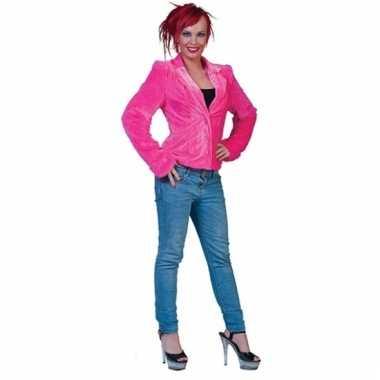 Goedkope roze bontjasje voor dames