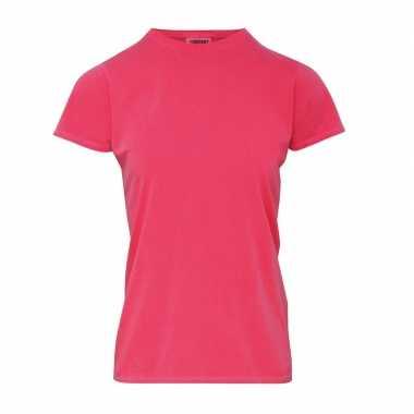 Goedkope roze dames t shirts met ronde hals