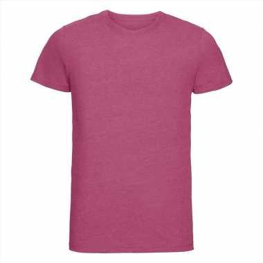 Goedkope roze heren t shirts met ronde hals