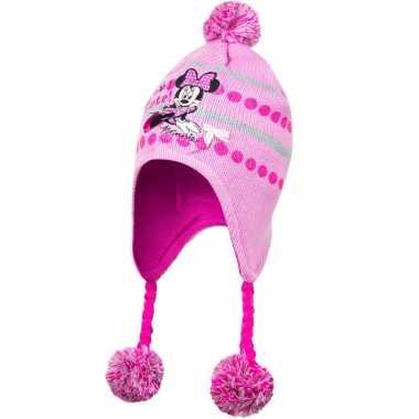 Goedkope roze minnie mouse wintermuts voor meisjes