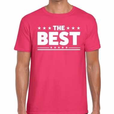Goedkope roze the best fun t shirt voor heren
