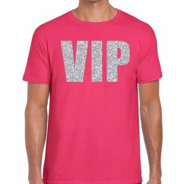 Goedkope roze vip zilver fun t shirt voor heren