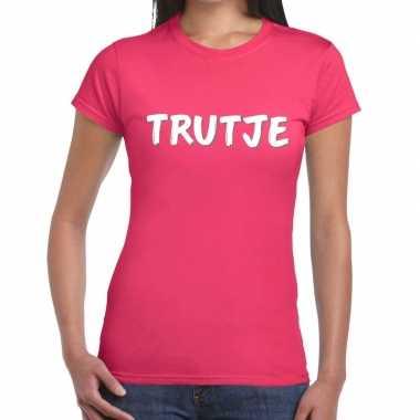 Goedkope rozetrutje shirt voor dames