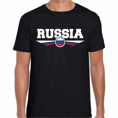 Goedkope rusland / russia landen shirt zwart voor heren