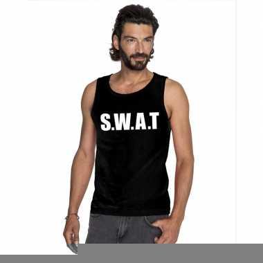 Goedkope s.w.a.t mouwloos shirt zwart voor heren