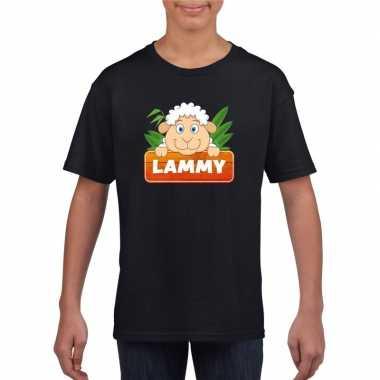 Goedkope schaap dieren t shirt zwart voor kinderen