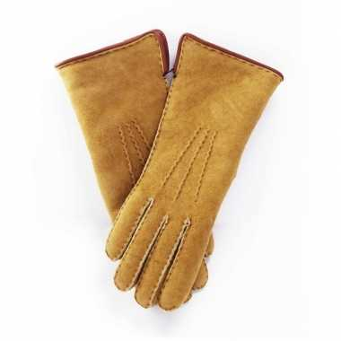 Goedkope schapenvacht handschoenen beige