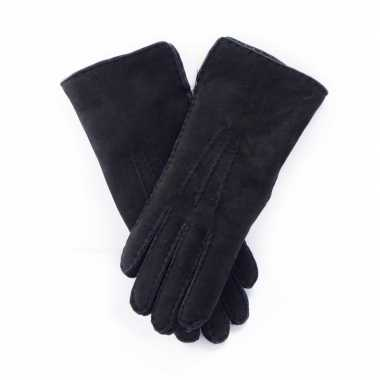 Goedkope schapenvacht handschoenen zwart