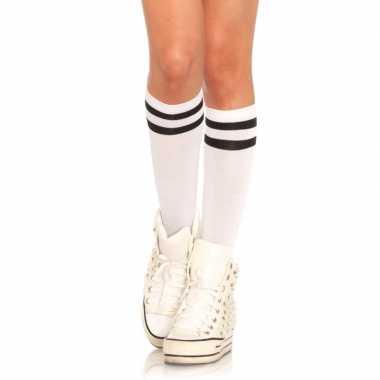 Goedkope scheidsrechter verkleed sokken voor dames