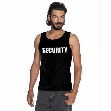 Goedkope security mouwloos shirt zwart voor heren