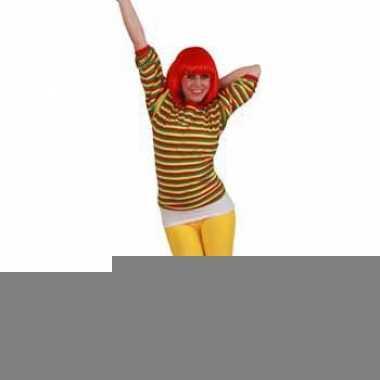Goedkope shirt in carnavalskleuren voor dames