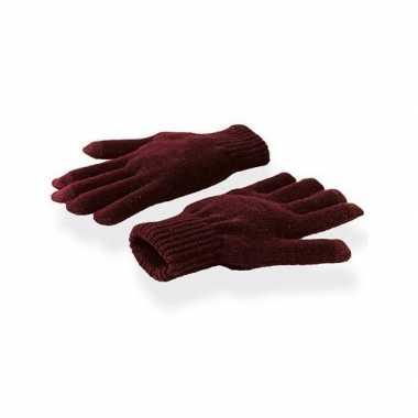 Goedkope smartphone handschoenen burgundy voor volwassenen