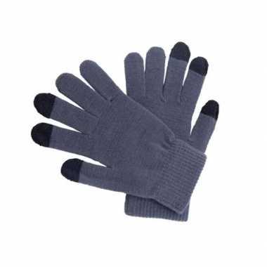 Goedkope smartphone handschoenen grijs voor volwassenen