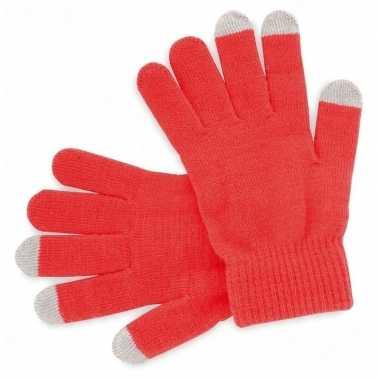 Goedkope smartphone handschoenen rood voor volwassenen