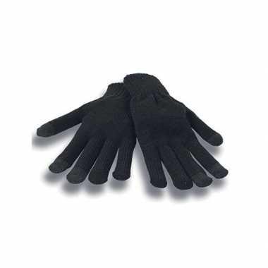 Goedkope smartphone handschoenen zwart voor volwassenen