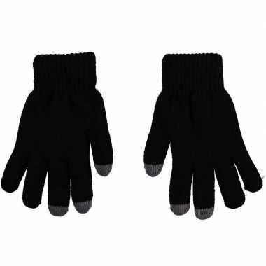 Goedkope smartphone thermo handschoenen zwart voor dames