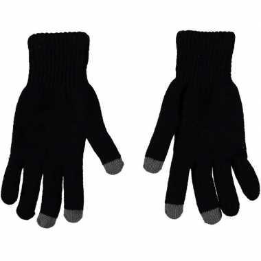 Goedkope smartphone thermo handschoenen zwart voor heren