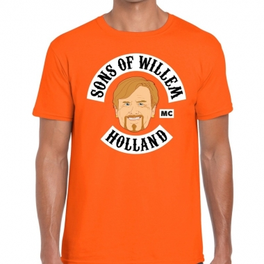 Goedkope sons of willem t shirt oranje heren