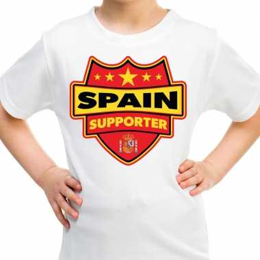Goedkope spanje / spain supporter shirt wit voor kinderen