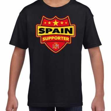 Goedkope spanje / spain supporter shirt zwart voor kinderen