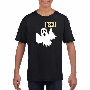 Goedkope spook halloween t shirt zwart voor jongens en meisjes