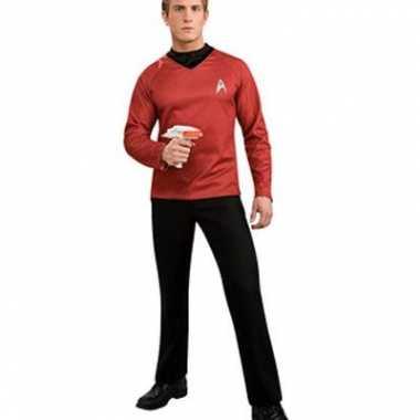 Goedkope startrek shirt rood met col