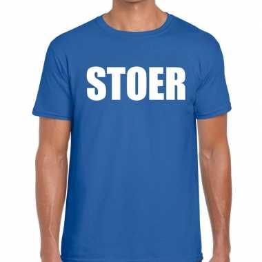 Goedkope stoer fun t shirt blauw voor heren