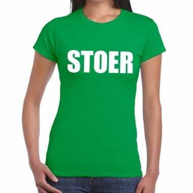 Goedkope stoer fun t shirt groen voor dames