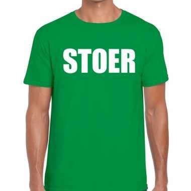 Goedkope stoer fun t shirt groen voor heren