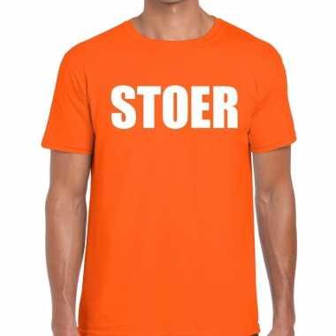 Goedkope stoer fun t shirt oranje voor heren