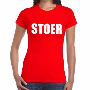 Goedkope stoer fun t shirt rood voor dames