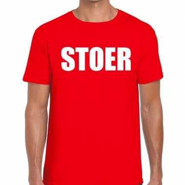 Goedkope stoer fun t shirt rood voor heren
