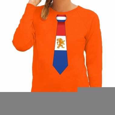 Goedkope stropdas holland sweater oranje dames