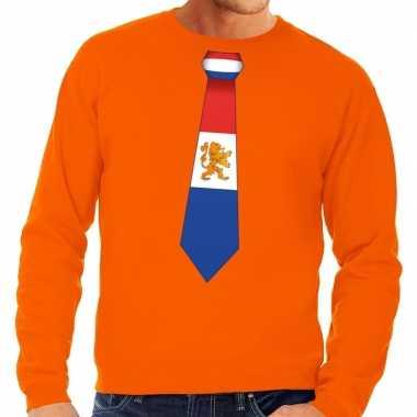Goedkope stropdas holland sweater oranje heren