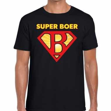 Goedkope super boer zwarte cross t shirt zwart voor heren